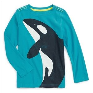 Tea Collection Shirts & Tops - NWT Tea Collection Orca Long Sleeve Graphic T